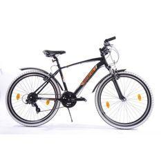 MINERVA Vélo VTT enfant 26 pouce cadre en aluminium couleur noir