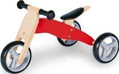 Mini draisienne tricycle enfant bouleau massif rouge et clair Charlie