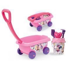 MINNIE Smoby Chariot De Plage Garni - Disney