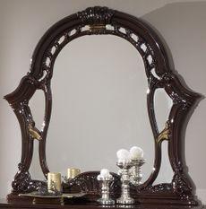 Miroir mural bois brillant acajou Soraya