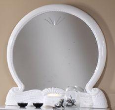 Miroir mural bois brillant blanc Gilda