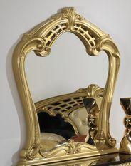 Miroir mural bois brillant doré Crissie