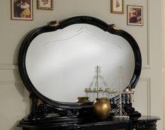 Miroir mural bois laqué noir Leslie