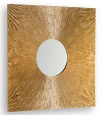 Miroir mural carré bois doré Urelly