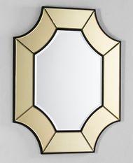 Miroir mural octogonal verre doré Octy