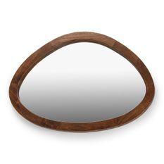 Miroir mural ovale bois foncé Blac L 106 cm