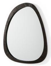 Miroir mural ovale bois foncé Blac L 81 cm