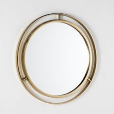 Miroir mural rond métal doré Alma