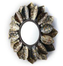 Miroir mural rond métal vieilli Cailly