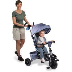 MONDO Tricycle évolutif convertible et pliable avec siege rotatif - On & Go Moovi Explore - Bleu - 12 mois et plus