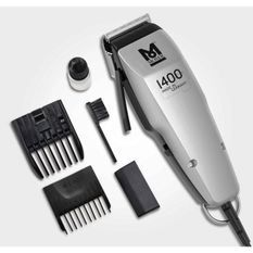 MOSER Tondeuse cheveux 1400 Clipper Edition Silver 1406-0458 - Tondeuse filaire Made in Germany - Levier d'ajustement a 5 positions