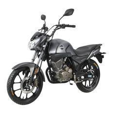 Moto 125cc homologuée 2 personnes Kiden KD125-G gris