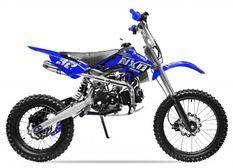 Moto cross 125cc automatique 17/14 bleu Sprinter