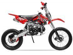 Moto cross 125cc Manuel 4 temps 17/14 Sprint rouge