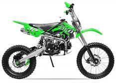 Moto cross 125cc Manuel 4 temps 17/14 Sprint vert