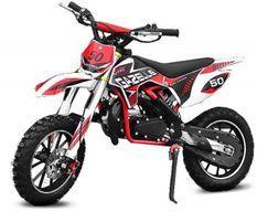 Moto cross 49cc Gazelle deluxe 10/10 e-start rouge
