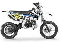 Moto cross 50cc Racing 14/12 3.5cv automatique Kick starter bleu