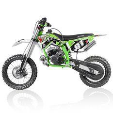 Moto cross 50cc Racing 14/12 3.5cv automatique Kick starter vert