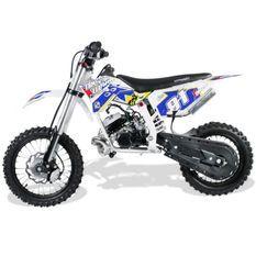 Moto cross 50cc Racing 14/12 9cv automatique Kick starter bleu