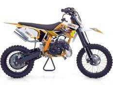 Moto cross 50cc Racing 14/12 9cv automatique Kick starter orange