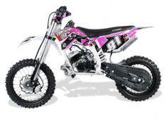 Moto cross 50cc Racing 14/12 9cv automatique Kick starter rose