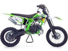 Moto cross 50cc Racing 14/12 9cv automatique Kick starter vert