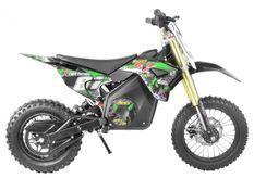 Moto cross électrique 1100W lithium 36V SX vert 12/10