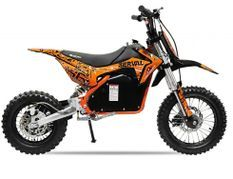 Moto cross électrique 1200W 48V lithium 12/10 Prime orange
