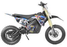 Moto cross électrique 1300W lithium 48V SX bleu 14/12