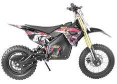 Moto cross électrique 1300W lithium 48V SX rose 14/12