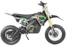 Moto cross électrique 1300W lithium 48V SX vert 14/12