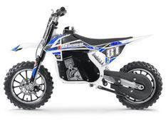 Moto cross électrique 500W MX blanc et bleu
