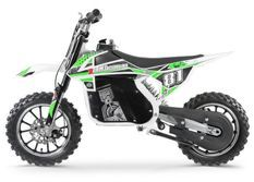 Moto cross électrique 500W MX blanc et vert