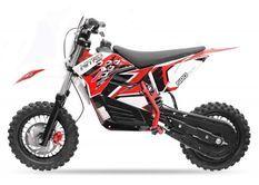 Moto cross électrique 800W brushless 48V 12/10 NRG turbo rouge