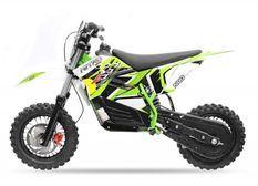 Moto cross électrique 800W brushless 48V 12/10 NRG turbo vert