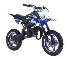 Moto cross enfant 49cc 2 temps Compétition bleu
