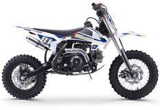 Moto cross enfant 70cc automatique bleu et noir MX70 12/10