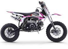 Moto cross enfant 70cc automatique rose et noir MX70 12/10