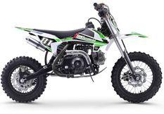 Moto cross enfant 70cc automatique vert et noir MX70 12/10