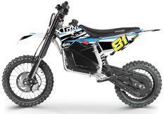 Moto cross enfant électrique 1200W Lithium 14/12 bleu