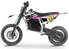 Moto cross enfant électrique 1200W Lithium 14/12 rose