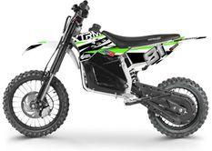 Moto cross enfant électrique 1200W Lithium 14/12 vert