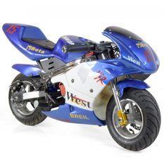 Moto de course Electrique GP 350W Bleu