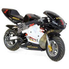 Moto de course Electrique GP 350W Noir