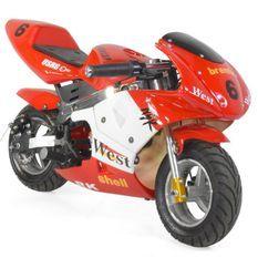 Moto de course Electrique GP 350W Rouge