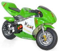 Moto de course Electrique GP 350W Vert