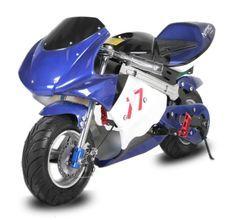 Moto de course électrique GP 800W Racing bleu