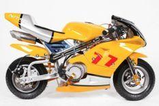 Moto de course PS77 49cc jaune