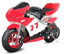 Moto de course PS77 49cc rouge