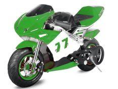 Moto de course PS77 49cc vert